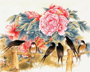 Привлечение любови в свою жизнь по Фэн-Шуй Swallows_and_peonies-300x240